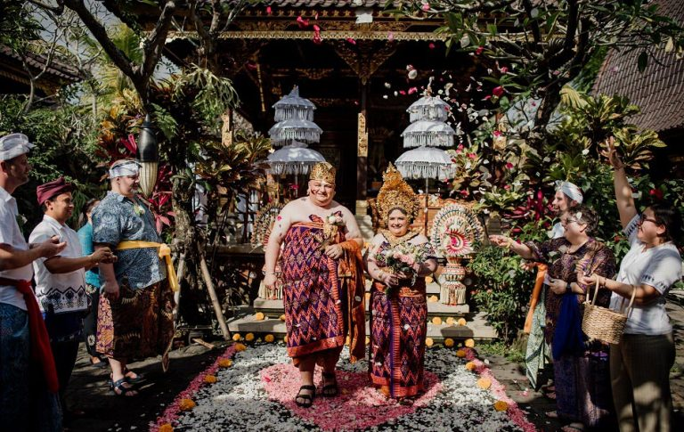 Melody and Todd Balinese Wedding Blessing