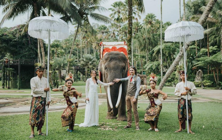 cat and matthew - elephant bali wedding
