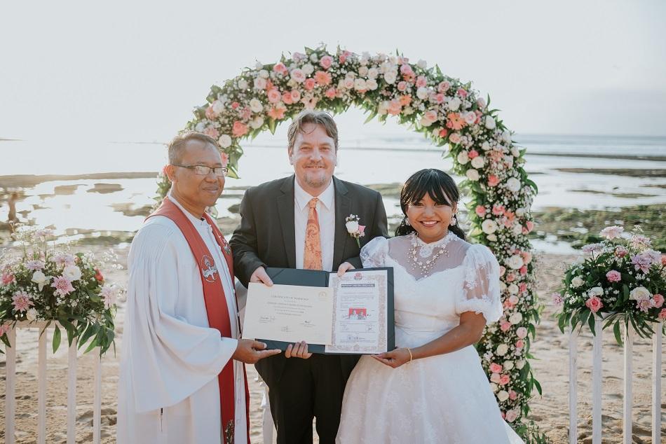 Jackie and Christopher Bali Wedding - Balangan Beach
