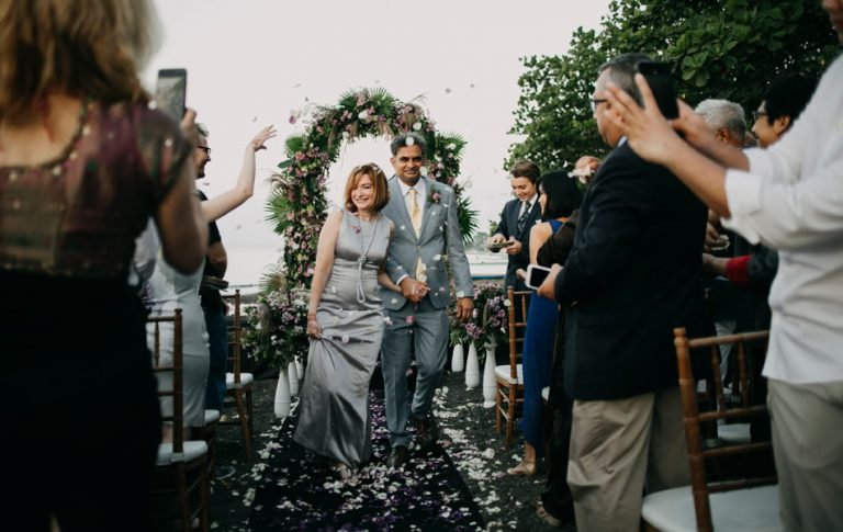 robin and sandeep western style bali wedding
