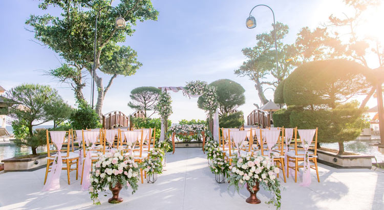 the seminyak beach garden wedding