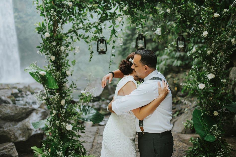 Brenda and Henry Bali Waterfall Wedding Ceremony