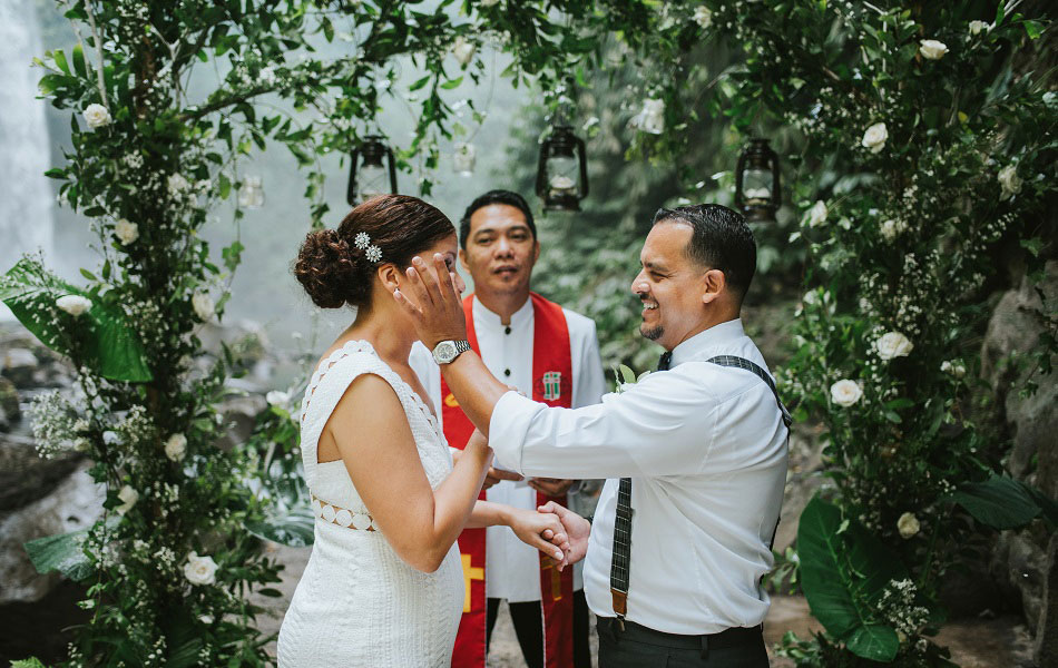 Brenda and Henry Bali Waterfall Wedding Ceremony