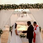 the laguna resort beach wedding