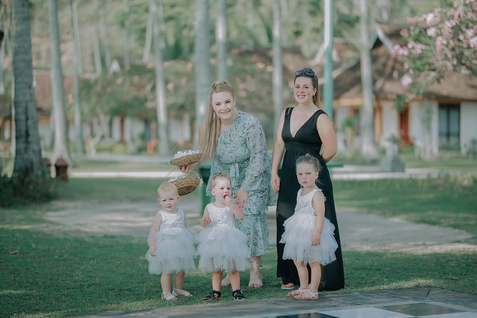 Emma and Shannon Holiday In Lombok Wedding