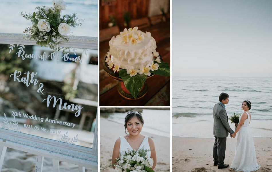 Kathy and Meng Bali Renewal of Vows