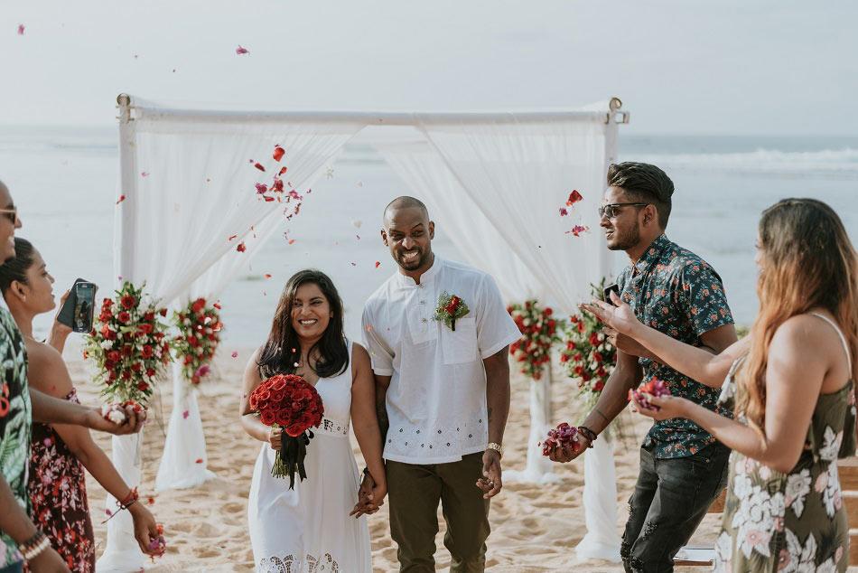 Salandra and Uthes Bali Renewal of Vows - Balangan Beach
