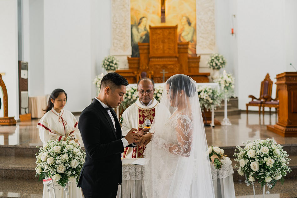 Desty and Monty Wedding - Catholic Church Nusa Dua