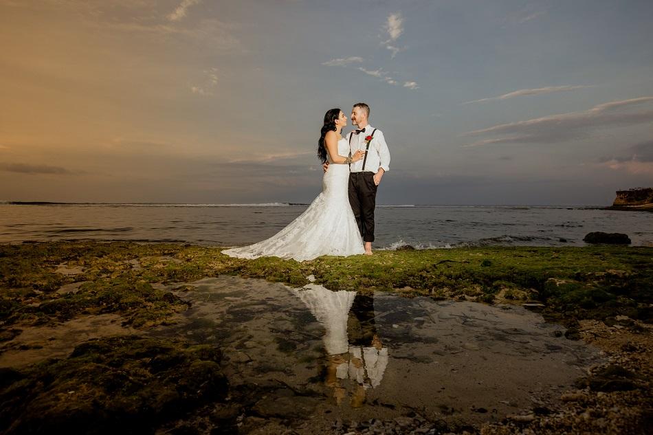 Nikita and Tyron Beach Wedding Ceremony in Bali