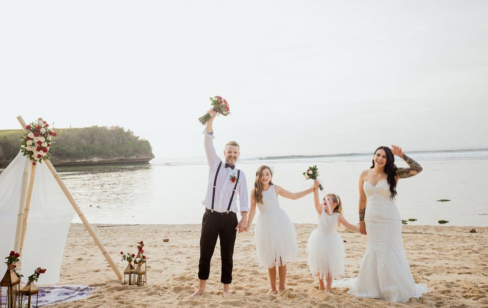 Nikita and Tyron Beach Wedding Ceremony in Bali