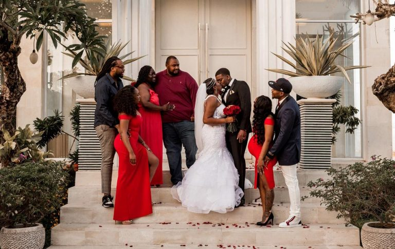 Cortney and DeMarcus bali tie-the-knot