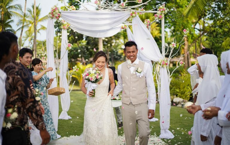 Heri and Chinami tie-the-knot Bali wedding ceremony
