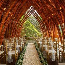 kupu kupu barong ubud bamboo chapel wedding