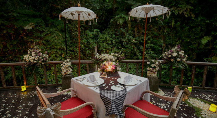 the kayon resort ubud wedding package