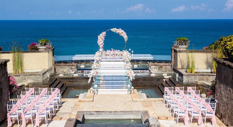hilton bali resort water wedding