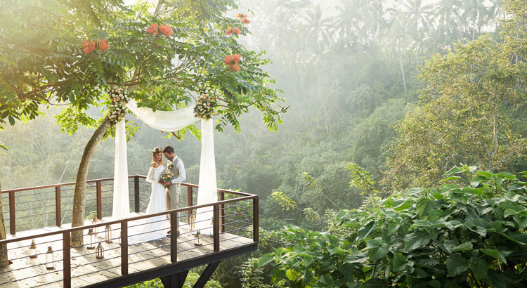 ubud forest theme wedding