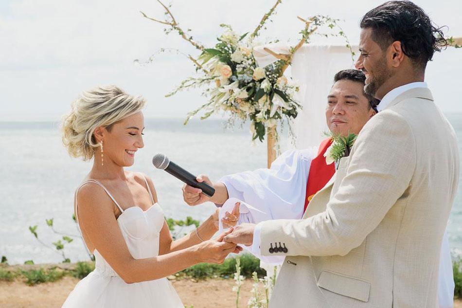 Lucy and Syed Matrimony - Balangan cliff wedding venue