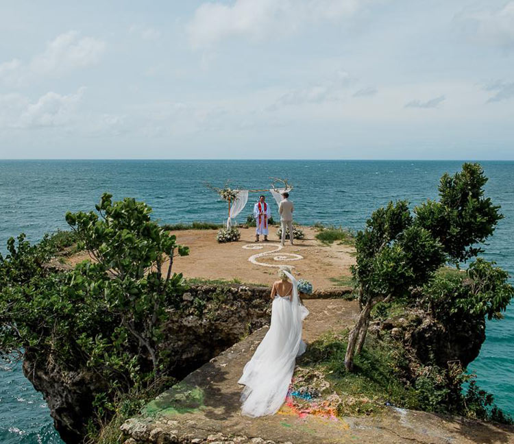 cost of balangan clifftop wedding