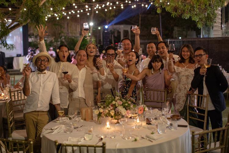 bali wedding dinner receptions