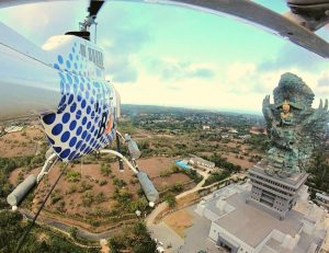 helicopter bali wedding proposal